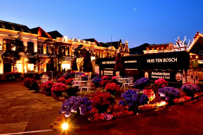 「ハウステンボスあじさい祭り」ヨーロッパの街と紫陽花の最高のミスマッチ!