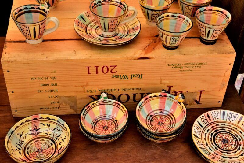 益子陶器市のアンティーク風のカップ