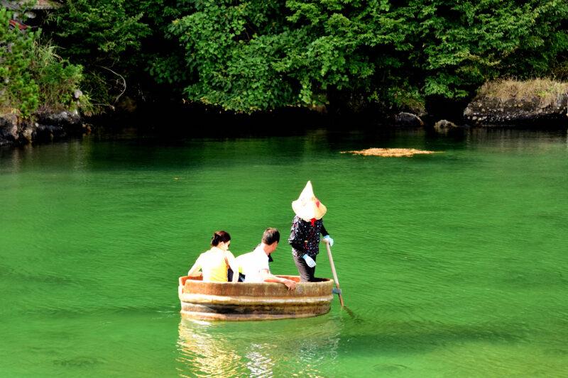佐渡島のたらい船