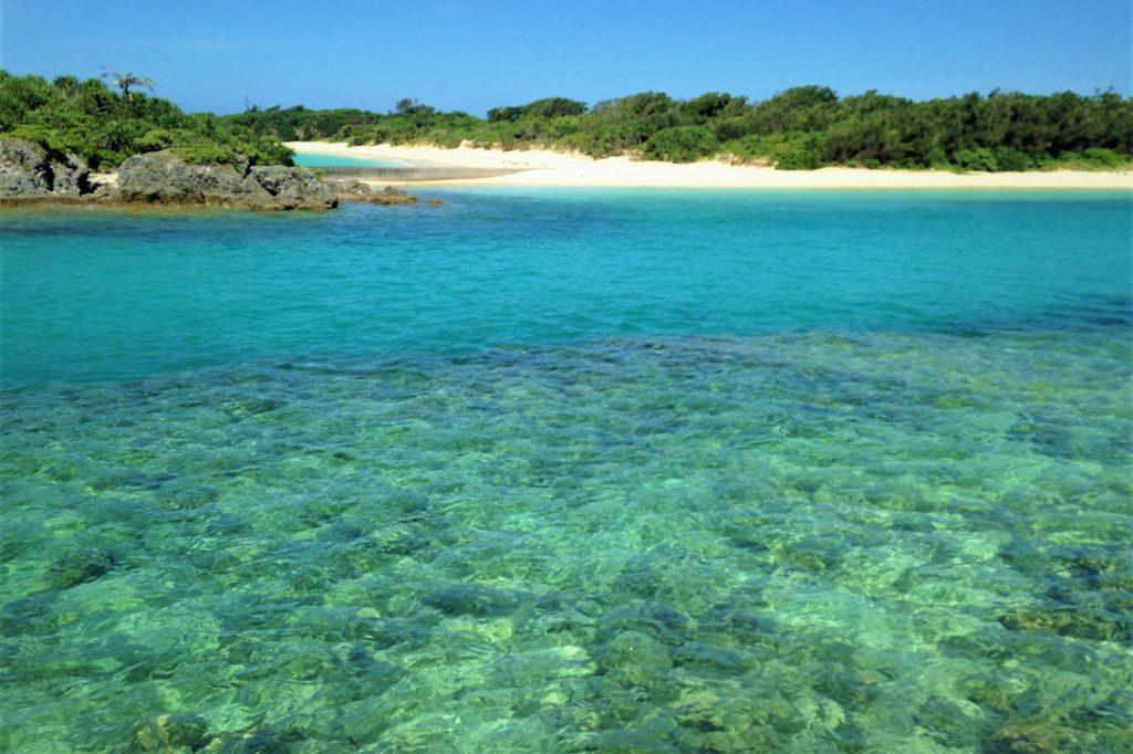 宮古島の透明な海