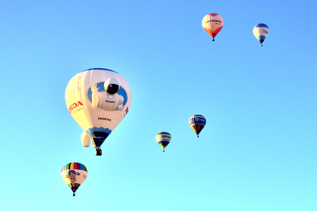佐賀バルーンフェスタの気球