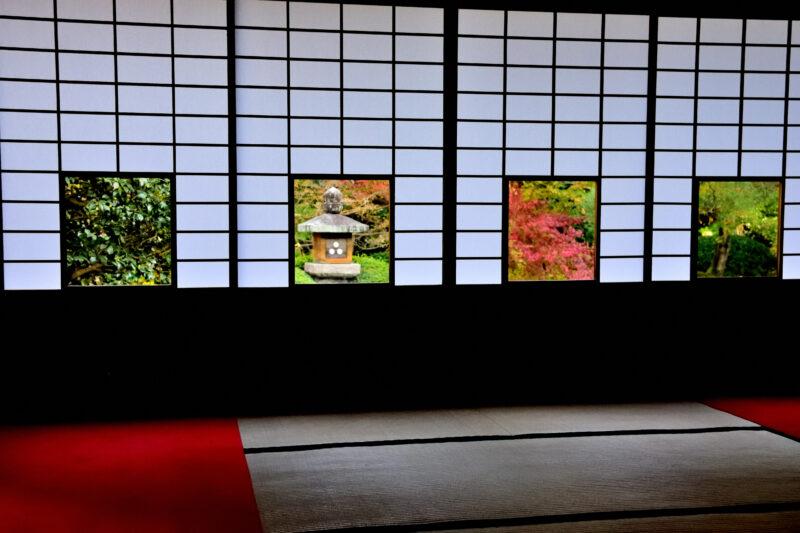 雲龍院の四つの色紙の窓