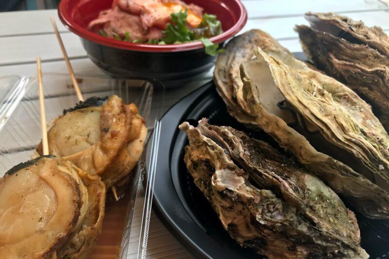 札幌オータムフェストの海鮮焼き