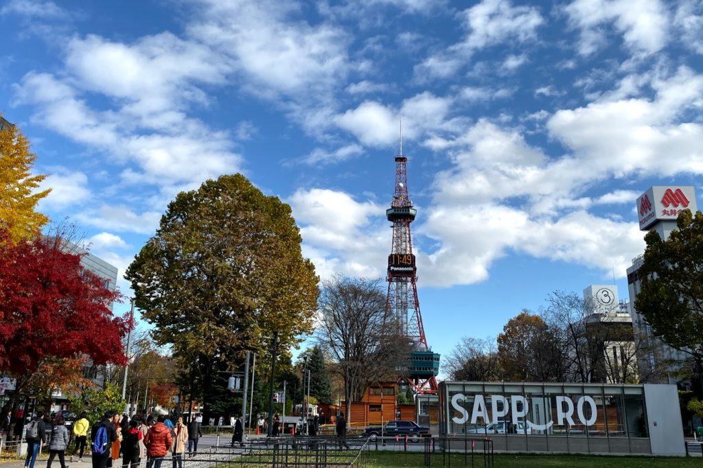 札幌の大通公園のテレビ塔