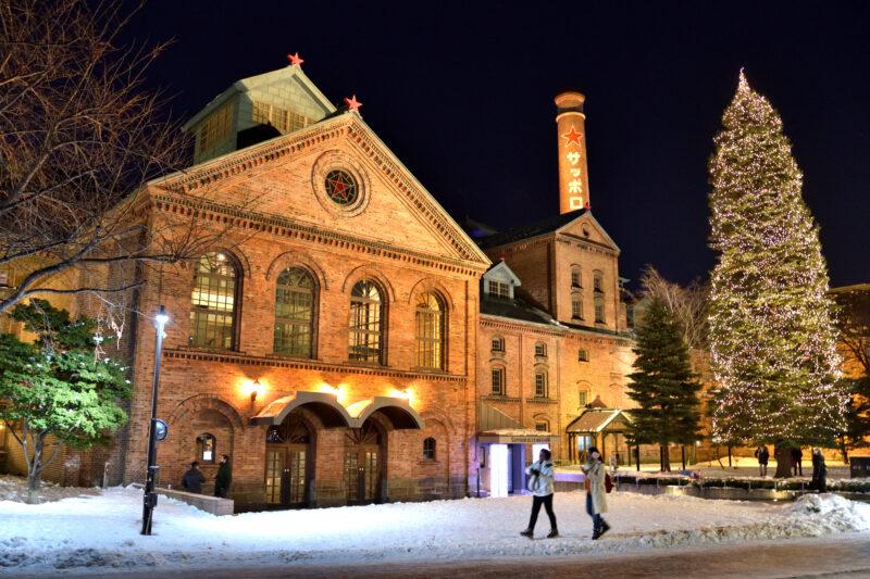 サッポロビール博物館のライトアップ