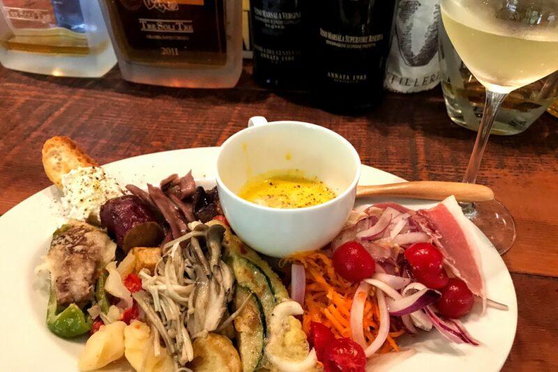 函館のヴェンティトレの前菜