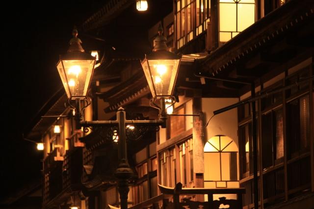 銀山温泉ライトアップ